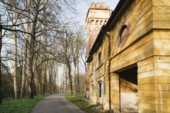 Old mill in the Monza Park Royalty Free Stock Image