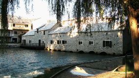 An old mill. On river Jadro in the city of Solin in Croatia stock photo
