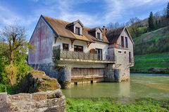 Old mill in Ornans Royalty Free Stock Photo