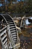 Old mill paddle wheel Stock Images