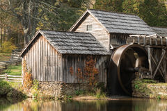 An old mill and pond in the Appalachian mountains royalty free stock photography