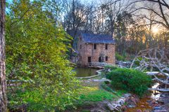 Old Mill - Arkansas. The Old Mill Replica in N. Little Rock, Arkansas Featured in the 1939 movie Gone With the Wind Stock Photos