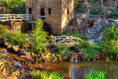 Old Mill Pond. The Old Mill Replica in N. Little Rock, Arkansas Featured in the 1939 movie Gone With the Wind Royalty Free Stock Photos