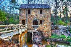 Old Mill. The Old Mill Replica in N. Little Rock, Arkansas Featured in the 1939 movie Gone With the Wind Stock Images