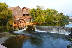 The Old Mill Resturant and General Store Pigeon Forge Tennessee Stock Photo