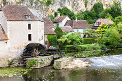 Old mill on the river Anglin at Angles-sur-Anglin Royalty Free Stock Photography