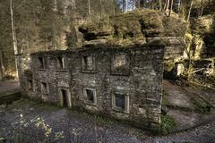 Old mill ruins Stock Photography