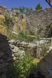 Old mill ruins in the hot springs area of Bagno Vignoni Royalty Free Stock Photo