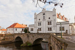 Old mill and stone bridge in Brandys nad Labem, Czech Republic. Old renaissance mill and stone bridge (circa 1603) in Brandys nad Labem town, Czech Republic Stock Photography