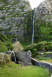 Old mill with waterfall, Azores (Portugal) Stock Images