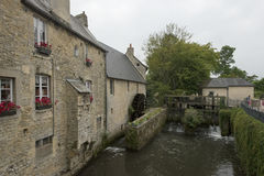 Old mill wheel in Bayeux, France Royalty Free Stock Photography