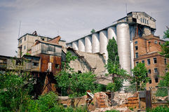 Old milling plant. Rostov-on-Don, Russia.  Royalty Free Stock Image