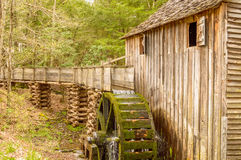 Old Millrace. The millrace of an historic grist mill located in Cades Cove, Smokey Mountain National Park, Tennessee Stock Photos