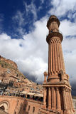 Old Minaret in Mardin Stock Photography