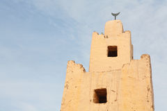 Old minaret in Morocco Royalty Free Stock Photos