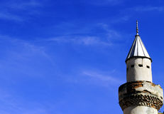 Old minaret. Minaret of an old mosque Royalty Free Stock Photos