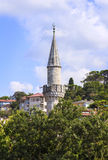 Old minaret of mosque,Istanbul,Turkey. Royalty Free Stock Image