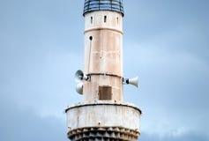 Old minaret. Minaret of an old mosque, photo taken at Prizren, Kosovo Stock Photography