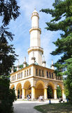 Old minaret, park Lednice, South Moravia, Czech Republic Stock Photo
