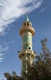 Old minaret in Qatar stock images