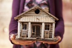 Old Minature Home Royalty Free Stock Photography
