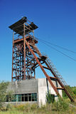 Old mine. Coal mine shaft in Romania Royalty Free Stock Images
