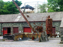 Old mine. An old mine and its machinery in Wales royalty free stock photo