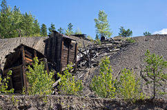 Old Mine. Abandoned gold mine.  Abandoned mines continue to blight the landscape Royalty Free Stock Images