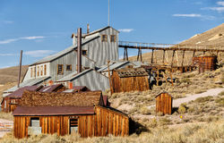 Old mine buildings in Bodie ghost town Royalty Free Stock Image