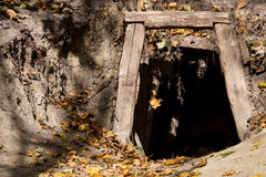 Old mine entrance Royalty Free Stock Images