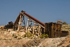 Old Mine Equipment Stock Photo