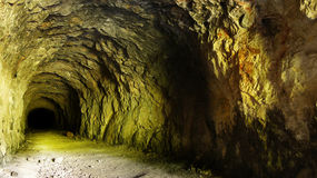 Old Mining Tunnel Stock Photography