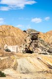 Old mine in Mazarron Royalty Free Stock Photo