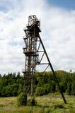 Old Mine Shaft Tower - Banska Stiavnica - Slovakia Stock Photo