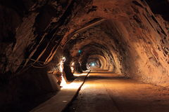 Old mine tunnel royalty free stock images