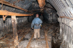 Old mine tunnel Stock Image