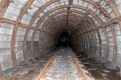 Old mine tunnel Royalty Free Stock Photography