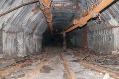 Old mine tunnel Stock Photo