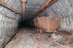 Old mine tunnel Royalty Free Stock Photo