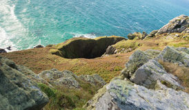 Old mine works Zennor Head Cornwall England near St Ives Royalty Free Stock Photography