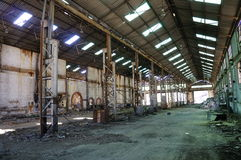 Old mine workshops warehouse Royalty Free Stock Photos