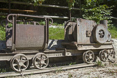 Old Minecart in Hohenpeissenberg Stock Images
