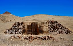 Old Miner dugout cabin Nevada Stock Image
