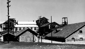 Old Mineralogical factory in Lavrion, Greece stock photos