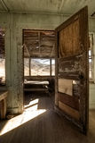 Old Miners Shack Interior. Old Wooden Miners Shack abandoned in the Nevada desert.  Interior Shot Stock Image