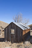 Old Miners Wood Shack. Old Wooden Miners Shack abandoned in the Nevada desert Stock Photos