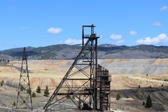 Old mines in Butte Royalty Free Stock Image