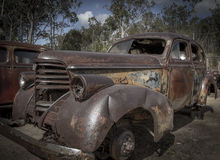 Old minetown car graveyard Royalty Free Stock Photo