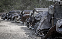 Old minetown car graveyard Royalty Free Stock Photos