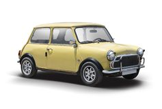 Old Mini Cooper stock photo